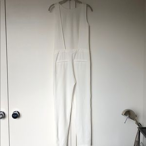 Zara Backless White Jumpsuit